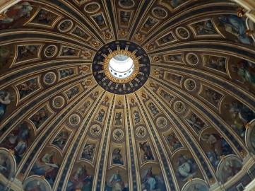 The 136 meter high Dome of the Saint Peter's Basilica